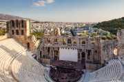 Odeón de Herodes Ático (s.II) en la Acrópolis de Atenas (15/09/2015)