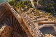 Escaleras de acceso a la Fortaleza Palamidi (Giaxich y Lasalle, s.XVIII) (19/09/2015)