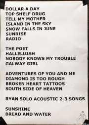 Setlist de Ryan Bingham & Band, Kafe Antzokia, Bilbao. 2015