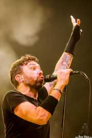Tim McIlrath, cantante y guitarrista de Rise Against, Bilbao Exhibition Centre (BEC), Barakaldo. 2015