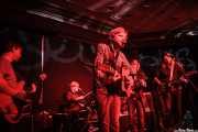 Doug Paisley, cantante y guitarrista, acompañado de The Parson Red Heads (Robbie Augspurger -bajo-, Brette Marie Way -batería y voz-, Evan Way -voz y guitarra-, Sam Fowles -guitarra y voz-), Kafe Antzokia, Bilbao. 2015