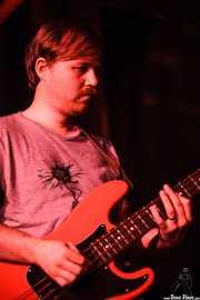 Robbie Augspurger, bajista de The Parson Red Heads, Kafe Antzokia, Bilbao. 2015