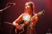 Kaori Tsuchida, guitarrista, teclista y melódica de The Go! Team, BIME festival, Barakaldo. 2015