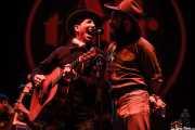 Pokey LaFarge -voz y guitarra- y Ryan Koenig -banjo, armónica, mandolina y washboard -, BIME festival, Barakaldo. 2015