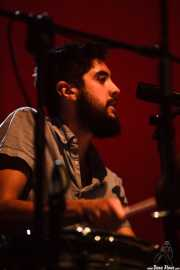 James Byrne, baterista y cornetista de Villagers, BIME festival, Barakaldo. 2015