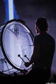 Dan Reynolds, cantante y percusionista de Imagine Dragons, BIME festival, Barakaldo. 2015
