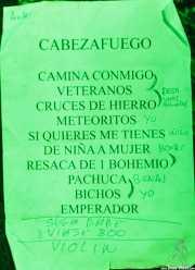 Setlist de Cabezafuego, La Ribera, Bilbao. 2015