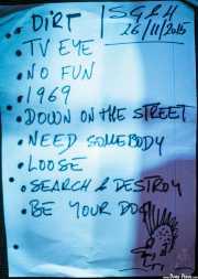 Setlist de Screamin' George & The Hustlers, Kafe Antzokia, Bilbao. 2015