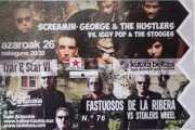 Entrada de Screamin' George & The Hustlers, Kafe Antzokia, Bilbao. 2015