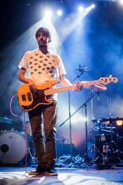 Sergio Gil, bajista de Yellow Big Machine, Kafe Antzokia, Bilbao. 2015