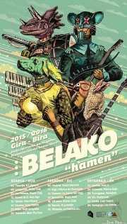 """Cartel de Belako por Iñaki González Elortz """"Fortun"""", Kafe Antzokia, Bilbao."""