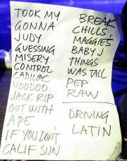 Setlist de The New Piccadillys (Purple Weekend Festival, León)
