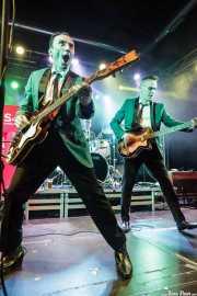 Keith Warwick -guitarra-, Michael Goodwin -batería- y Mark Ferrie -bajo- de The New Piccadillys (Purple Weekend Festival, León)