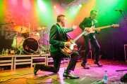 Michael Goodwin -batería-, Mark Ferrie -bajo- y George Miller -voz y guitarra- de The New Piccadillys (Purple Weekend Festival, León)
