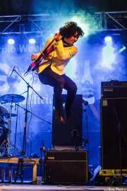 Roméo Kizmiaz, guitarrista de Les Grys-Grys (Purple Weekend Festival, León)