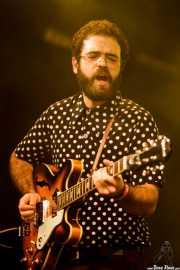 Sergio Alarcón, guitarrista, teclista y percusionista de The Limboos (Santana 27, Bilbao, 2015)