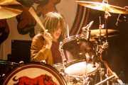 Andy Cobo, baterista de Seventy Seven 77 (Kafe Antzokia, Bilbao, 2016)