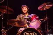 Lander Cadenas, baterista de Still River (Kafe Antzokia, Bilbao, 2016)