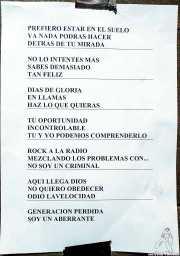 Setlist de Nuevo Catecismo Católico (Kafe Antzokia, Bilbao, 2016)