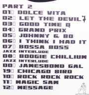 Setlist de The Dustaphonics (La Nube Café Teatro, Bilbao, 2016)