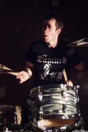 Joseba Arza, baterista de Bullet Proof Lovers (Xurrut, Gorliz, 2016)