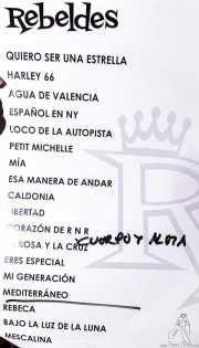 Setlist de Los Rebeldes (Torrezabal Kultur Etxea, Galdakao, 2016)