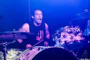 Johnny Biscuit, baterista de The Black Halos (Kafe Antzokia, Bilbao, 2016)