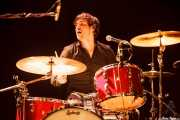 Charlie Hollocou, baterista de The Lookers (Intxaurrondo K.E., Donostia / San Sebastián, 2016)