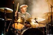 Joe Winters, baterista de The Steepwater Band (Kafe Antzokia, Bilbao, 2016)