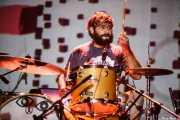 Roberto Villar, baterista de Yellow Big Machine (Social Antzokia, Basauri, 2016)