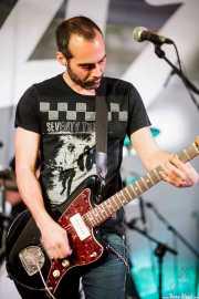 Jorge Gascón, cantante y guitarrista de Grand Matter (Plaza Solobarria, Basauri, 2016)