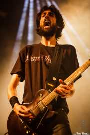 Miguel Ortega, guitarrista de Santo Rostro (Santana 27, Bilbao, 2016)