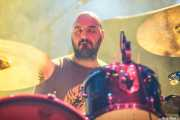 Alberto Croce, baterista de Black Rainbows (Santana 27, Bilbao, 2016)