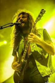 Gabriele Fiori, guitarrista y cantante de Black Rainbows (Santana 27, Bilbao, 2016)
