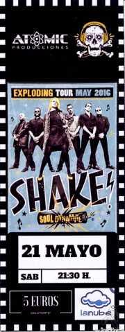 Entrada de Shake! (La Nube Café Teatro, Bilbao, 2016)