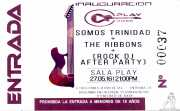 Entrada de The Ribbons (Sala Play Rock, Bilbao, )