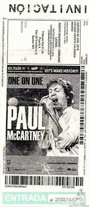 Invitación de Paul McCartney (Estadio Vicente Calderón, Madrid, )