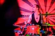Juan Marco, baterista de The Diesel Dogs (Phantom Club, Madrid, 2016)