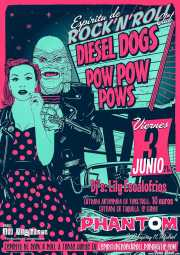 Cartel de The Diesel Dogs y Pow Pow Pows por Alvaro P-FF, The Fly Factory (http://www.theflyfactory.net/) (, , )