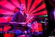 Javier Barbería, baterista de Pow Pow Pows (Phantom Club, Madrid, 2016)
