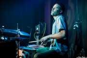 Natxo Beltrán, baterista de Lee Perk Trio (Kafe Antzokia, Bilbao, 2016)