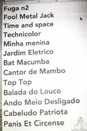 Setlist de Os Mutantes (Kafe Antzokia, Bilbao, 2016)