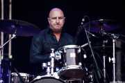 Alan Fatras, baterista de Elliott Murphy & Band (Music Legends Fest, Sondika, 2016)