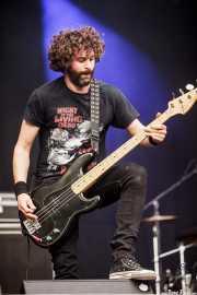 David González, bajista de Cobra (Azkena Rock Festival, Vitoria-Gasteiz, 2016)