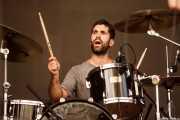 Aratz Etxeberria, baterista de Rural Zombies (Bilbao BBK Live, Bilbao, 2016)
