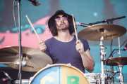 Dave Mudie, baterista de Courtney Barnett (Bilbao BBK Live, Bilbao, 2016)