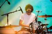 """Julien """"Frenchie"""" Barbagallo, baterista de Tame Impala (Bilbao BBK Live, Bilbao, 2016)"""