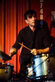 Alberto Chao, baterista de The Phantom Keys (Satélite T, Bilbao, 2016)