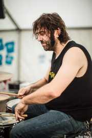 """David """"Kalbo"""", baterista de Tiparrakers (SaniRock 16, Bilbao, 2016)"""