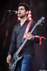 Jon Garcia, cantante y bajista de Mocker's (Mundaka Festival, Mundaka, 2016)